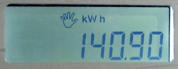 Keterangan kWh pulsa listrik yang berhasil ditambahkan pada meteran listrik prabayar