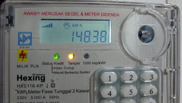 Pulsa isi ulang listrik (kWh) telah bertambah
