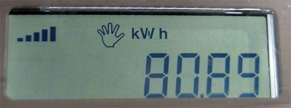KWh meter Hexing HXE116-KP pulsa token masih banyak.
