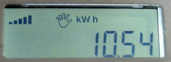 KWh meter Hexing HXE116-KP pulsa token sisa sedikit.
