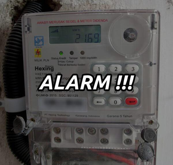 Meteran listrik prabayar Hexing alarm