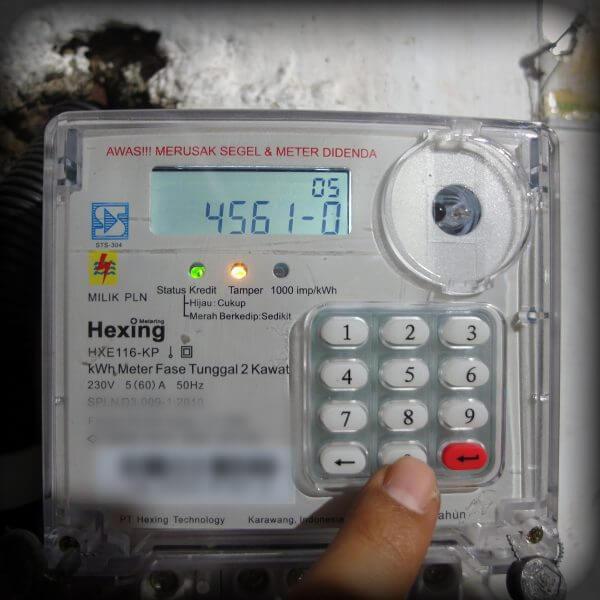 Tekan 45610 - Mengubah batas minimal kWh untuk alarm pada meteran listrik prabayar