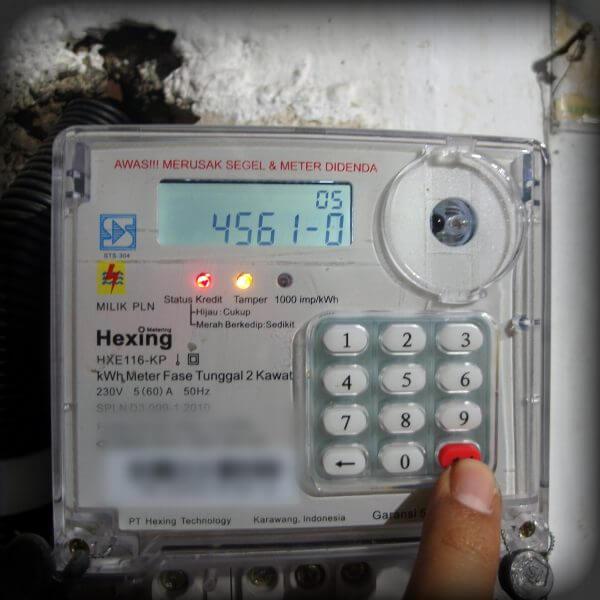 Tekan Enter - Mengubah batas minimal kWh untuk alarm pada meteran listrik prabayar