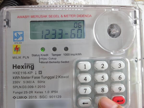 Meteran listrik prabayar Hexing - kode 123360
