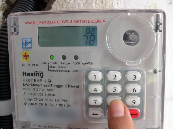 Meteran listrik prabayar Hexing - kode 78