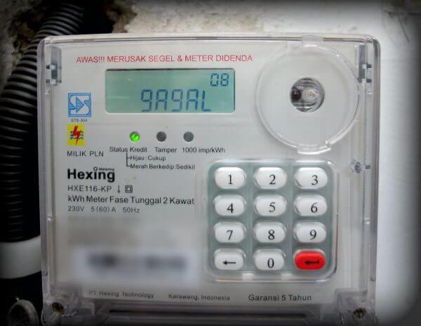"""Tampil pesan error """"Gagal""""- Menekan 4 digit kode perintah pada kWh meter listrik prabayar token"""