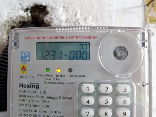 Meteran listrik prabayar Hexing - kode 1231000