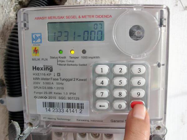 Meteran listrik prabayar Hexing - kode 1231000 tekan enter tidak bereaksi apa-apa