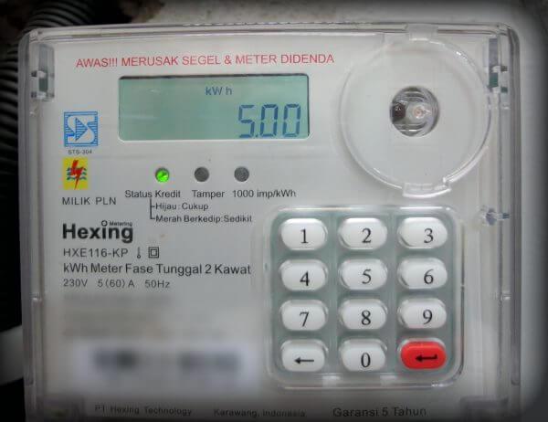 Limit alarm otomatis disetel ke angka minimal yaitu 5 kWh (ubah batas kWh minimum untuk alarm pada meter listrik prabayar)