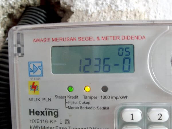 Meteran listrik prabayar Hexing - kode 12360