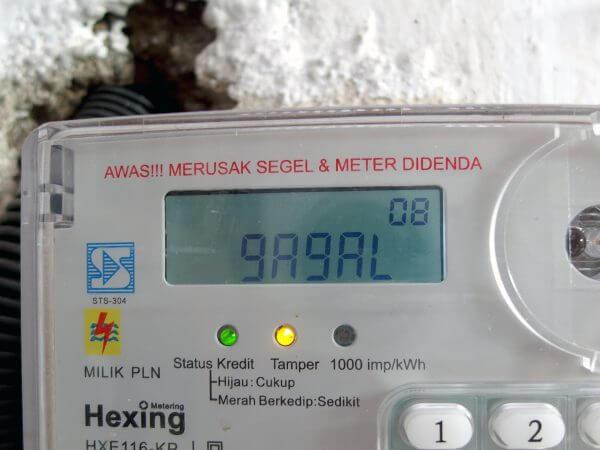 Meteran listrik prabayar Hexing - kode 12360 gagal