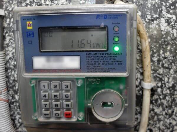 KWh Meter merek Fuji tipe FA14EPP - jumlah pulsa awal