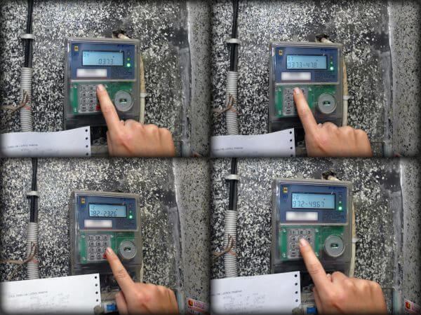 KWh Meter merek Fuji tipe FA14EPP dimasukkan kode token meteran lain