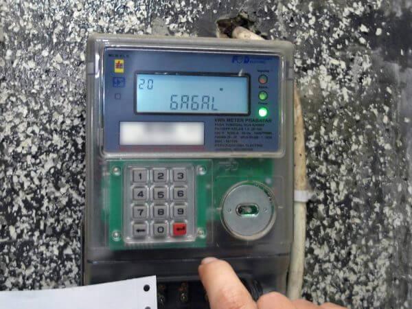 KWh Meter merek Fuji tipe FA14EPP - pengisian kode token gagal