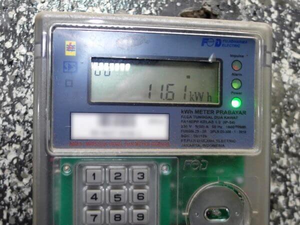 KWh Meter merek Fuji tipe FA14EPP - jumlah pulsa listrik tetap tidak bertambah