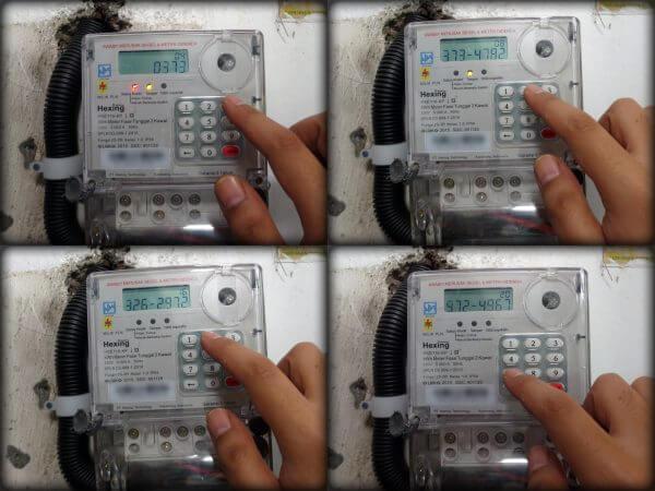 KWh meter merek Hexing HXE116KP diisi kode token