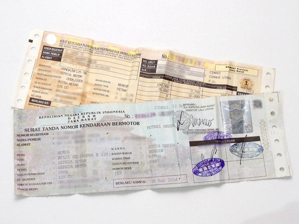 Mengurus surat kendaraan bermotor sendiri (STNK dan surat pajak kendaraan)