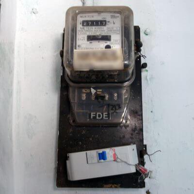 MCB baru (2200 VA), sesudah penambahan daya listrik