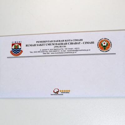 Tampilan depan amplop sampul surat keterangan pemeriksaan narkoba (surat bebas narkoba)